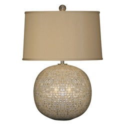 Mother of Pearl Orb Lamp
