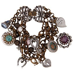 Sweet Romance Vintage Love and Luck Charm Bracelet