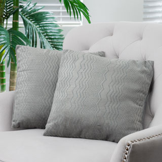 Grey Jacquard Pillows (Set of 2) by Christopher Knight Home