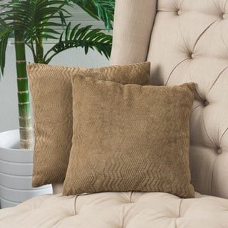 Christopher Knight Home Brown Jacquard Pillows (Set of 2)