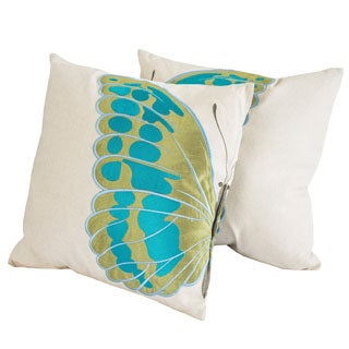 Embroidered Wings Pillows (Set of 2) by Christopher Knight Home