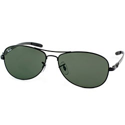 ray ban black aviators  ray ban rb 8301 carbon fiber 002 black cockpit sunglasses