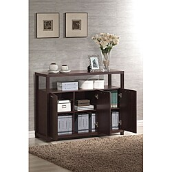 Hill Espresso Finish Cabinet with 3 Doors