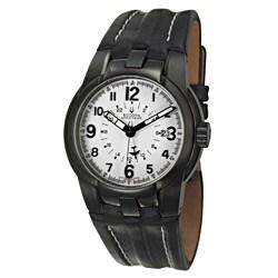 Bulova Accutron Men's 'Eagle Pilot' Black Stainless Steel Swiss Automatic Watch