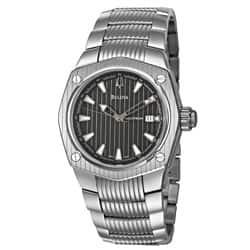 Bulova Accutron Men's 'Corvara' Stainless Steel Swiss Automatic Watch|https://ak1.ostkcdn.com/images/products/P14430867.jpg?impolicy=medium