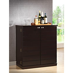 Stamford Dark Brown Modern Bar Cabinet