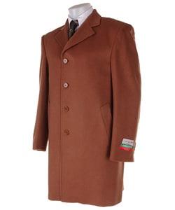 Shop Louis Dellolio Men S Brown Cashmere Coat Free