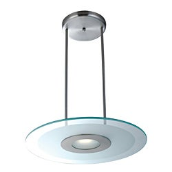 Access 'Helius' Brushed Steel with Frosted Ring 1 Light Pendant