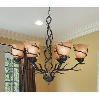 Design Craft Long Branch Blackened Bronze 6-light Chandelier