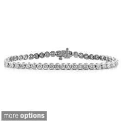 Auriya 14k Gold 3ct TDW 6 to 8.5-inch Diamond Tennis Bracelet