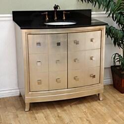 Bellaterra 36 in. Single Sink Wood Vanity with Black Granite