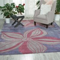 Nourison Hand-tufted Contours Violet Rug (3'6 x 5'6) - 3'6 x 5'6