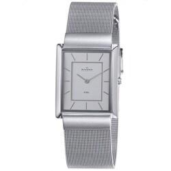 Skagen Men's Silver Dial Steel Mesh Watch