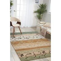 Nourison Contours Green Hand-tufted Area Rug - 3'6 x 5'6