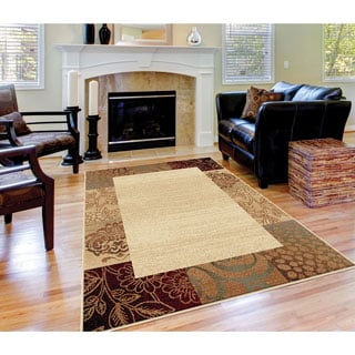 Alise Rhythm Beige Transitional Area Rug (5' x 7')