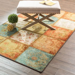 Laurel Creek Oswin Artifact Panel Contemporary Multi Accent Rug - 2'6 x 3'10