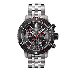 Tissot Men's T0674172105100 PRS 200 Round Silvertone Bracelet Watch
