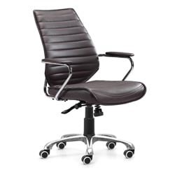 Zuo Enterprise Espresso Low Back Leatherette Office Chair