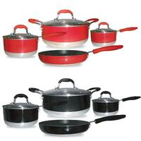 Gourmet Chef Aluminum Induction-ready 7-piece Nonstick Cookware Set