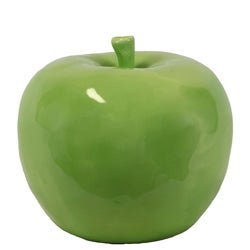 Large Ceramic Green Apple
