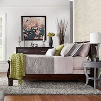 Milford Louis Phillip Warm Brown Queen-size Sleigh Bed by iNSPIRE Q Classic