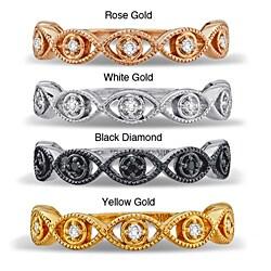 Victoria Kay 14k Gold 1/10ct TDW Diamond Evil Eye Stackable Ring (I-J, I1-I2)