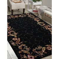 Nourison Hand-tufted Julian Black Rug (7'6 x 9'6)