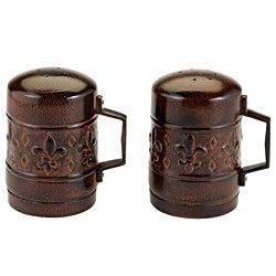 Old Dutch Versailles Antique Copper Salt and Pepper Set