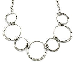 West Coast Jewelry Stainless Steel Open-Circles Necklace