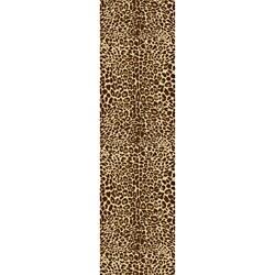 Animal Prints Leopard Gold Runner Non-Skid Area Rug (2' x 6'10)