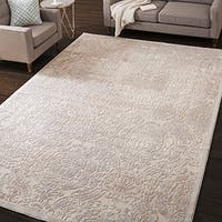 Nourison Graphic Illusions Ivory Vintage Distressed Rug - 5'3 x 7'5