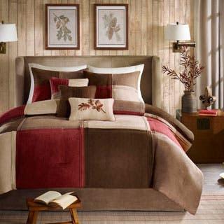 red bedroom set. Madison Park Maddox 7 piece Comforter Set  Option Red Sets For Less Overstock com