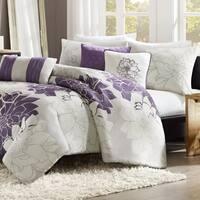 Madison Park Bridgette Purple 6-piece Duvet Cover Set