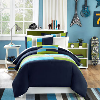 mi zone switch casual stripe 4piece comforter set
