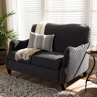 Penzance Dark Grey Linen Loveseat