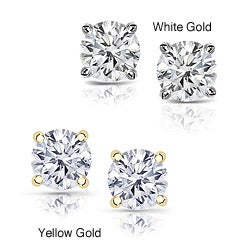 14k Gold 2ct TDW Clarity-Enhanced Diamond Stud Earrings