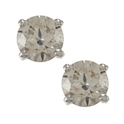 Auriya Platinum 1/2ct TDW Clarity-enhanced Diamond Stud Earrings (J-K, SI1-SI2)