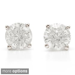 Platinum 1 1/4ct TW Clarity Enhanced Diamond Stud Earrings