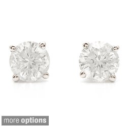 Auriya Platinum 1 1/2ct TDW Clarity-enhanced Diamond Stud Earrings