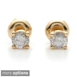 Auriya 18k Gold 2ct TDW Clarity-enhanced Diamond Stud Earrings