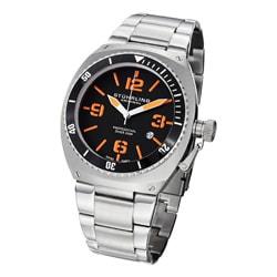 Stuhrling Original Men's Regatta DSV Professional Diver Stainless Steel Bracelet Watch