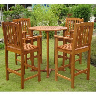 Teak Patio Furniture Find Great Outdoor Seating Dining Deals - Teak bar height table and chairs