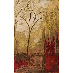 "Monet Autumn Multi Hand-Tufted Wool Rug (9'6"" x 13'6"")"