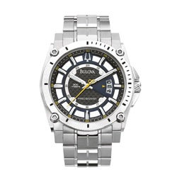 Bulova Men's Precisionist Champlain Silver Watch