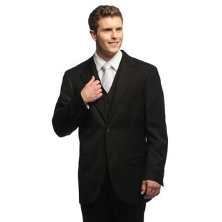 Dockers Men's Herringbone Black Solid Suit Separates Coat
