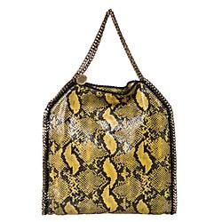 Stella McCartney 'Falaballa' Large Yellow Python Print Tote Bag