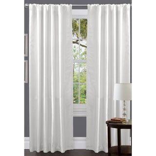 Lush Decor Venetian White Faux Silk 84-inch Curtain Panel