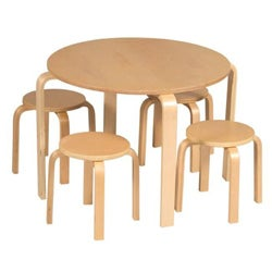 Guidecraft Nordic Table and Natural Chairs Set
