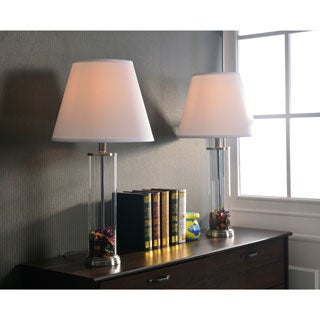 Clear Glass Fillable Table Lamp (Set of 2)