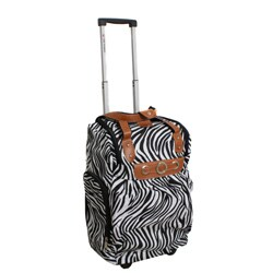 Runway Lady's Lightweight Zebra Carry-on Rolling Luggage Bag